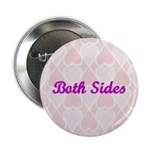 Both Sides Pink Hearts Button