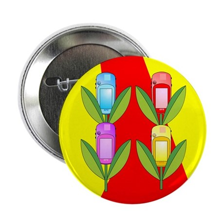"GPS Flowers 2.25"" Button"