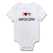 I Love My American Eskimo Infant Bodysuit