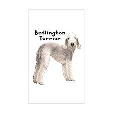 Bedlington Terrier Rectangle Decal