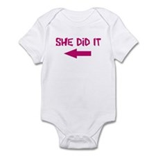 She Did It (left) Infant Bodysuit