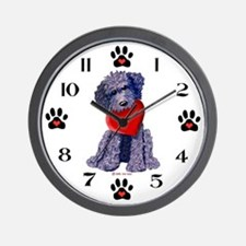 Black DOODLE LUV Dog Wall Clock