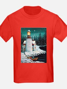 Christmas Lighthouse T
