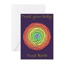 Trust Birth Labyrinth Greeting Cards (Pk of 20)
