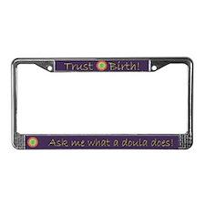 Trust Birth Labyrinth License Plate Frame