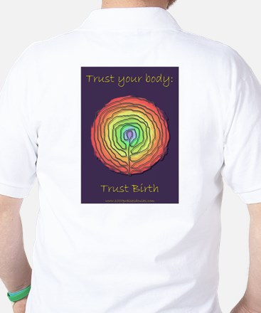 Trust Birth Labyrinth Golf Shirt