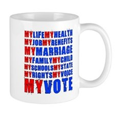 My Life My Vote Mug