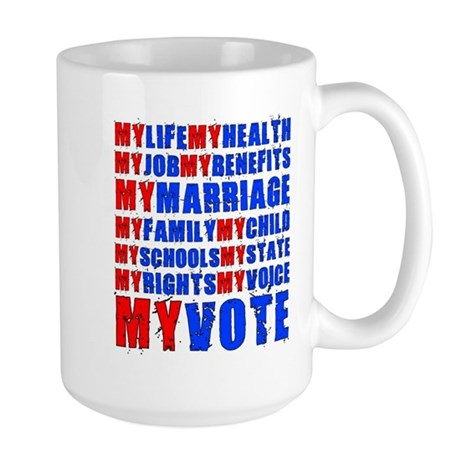 My Life My Vote Large Mug