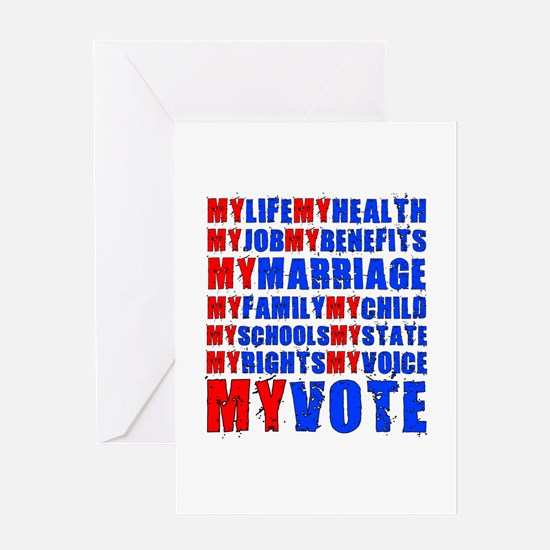 My Life My Vote Greeting Card