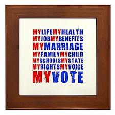 My Life My Vote Framed Tile
