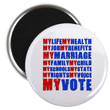 "My Life My Vote 2.25"" Magnet (100 pack)"
