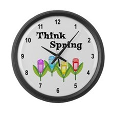 Think Spring GPS Large Wall Clock