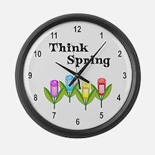 Think Spring GPS Large Wall Clock