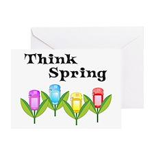 Think Spring GPS Greeting Card