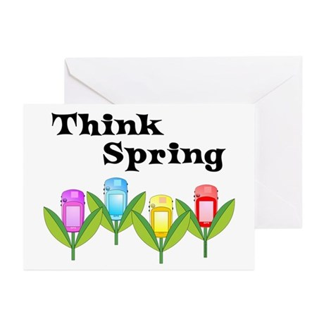 Think Spring GPS Greeting Cards (Pk of 20)