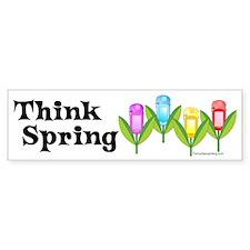 Think Spring GPS Bumper Bumper Sticker