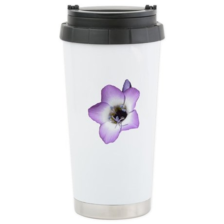 Purple Flower - Stainless Steel Travel Mug