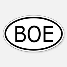 BOE Bind On Equip Oval Decal