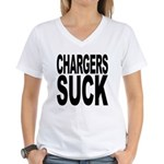 Chargers Suck Women's V-Neck T-Shirt