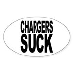 Chargers Suck Oval Sticker