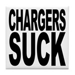 Chargers Suck Tile Coaster