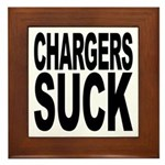 Chargers Suck Framed Tile
