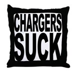 Chargers Suck Throw Pillow