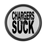 Chargers Suck Large Wall Clock