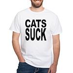 Cats Suck White T-Shirt