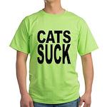 Cats Suck Green T-Shirt