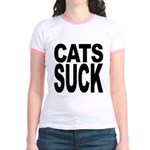 Cats Suck Jr. Ringer T-Shirt