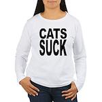 Cats Suck Women's Long Sleeve T-Shirt