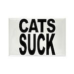 Cats Suck Rectangle Magnet