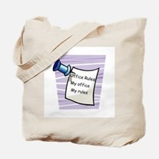 Office Rules Tote Bag