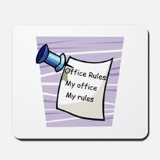 Office Rules Mousepad