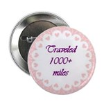 Traveld 1000+ miles Circle Hearts Button