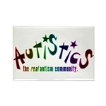 The Real Autism Community Rectangle Magnet