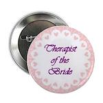 Therapist of the Bride Circle Hearts Button