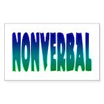 nonverbal Rectangle Sticker