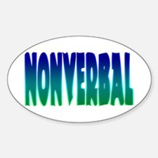 nonverbal Oval Decal