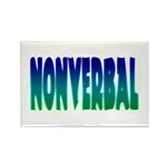 nonverbal Rectangle Magnet (100 pack)