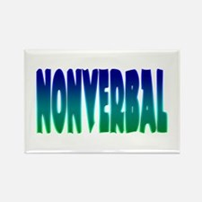 nonverbal Rectangle Magnet (10 pack)