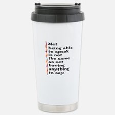 Speak Stainless Steel Travel Mug