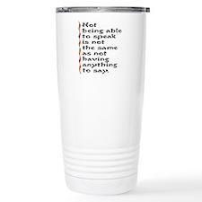 Speak Travel Mug