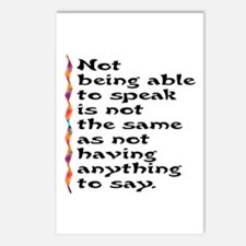 Not Being Able to Speak... Postcards (Package of 8