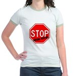 Stop Abusing Autistics Jr. Ringer T-Shirt