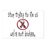 We're Not Broken Postcards (Package of 8)