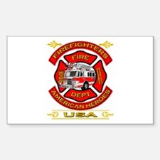 Firefighters~American Heroes Rectangle Stickers