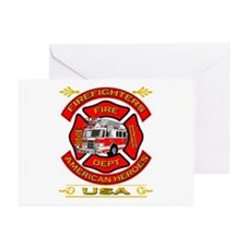 Firefighters~American Heroes Greeting Cards (Pk of