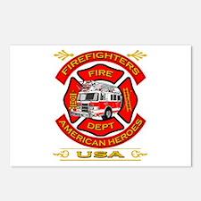 Firefighters~American Heroes Postcards (Package of